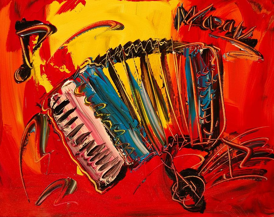 accordion painted